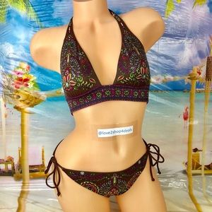 ! Victoria's Secret 2 piece halter bikini swim set